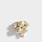 Pearl and flower asymmetric earrings