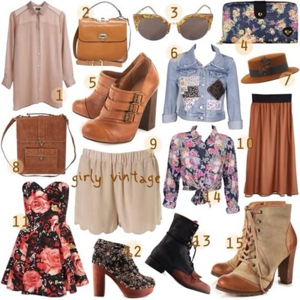jacket blouse sunglasses bag dress shoes skirt shorts