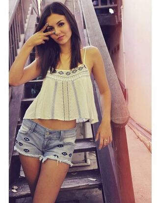 top shorts summer outfits instagram victoria justice