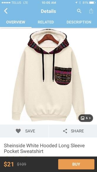 sweater white pattern wish.com