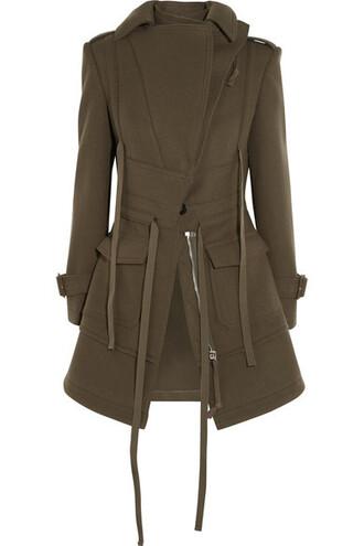 jacket wool green army green