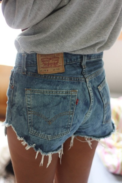 5c6c92267236 shorts, clothes, jeans, hot pants, denim, high waisted shorts, cute ...