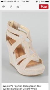 shoes,wedges,tan,heels