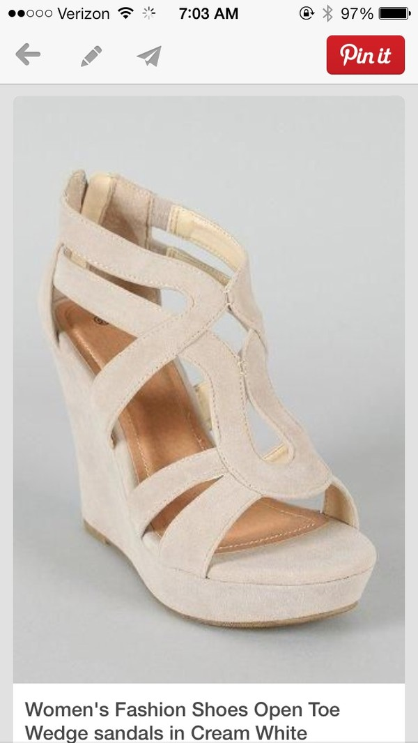 shoes wedges tan heels