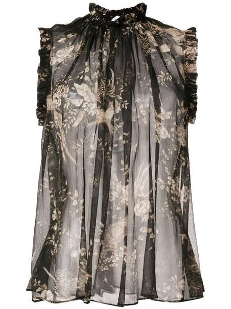 Zimmermann blouse women floral print silk top