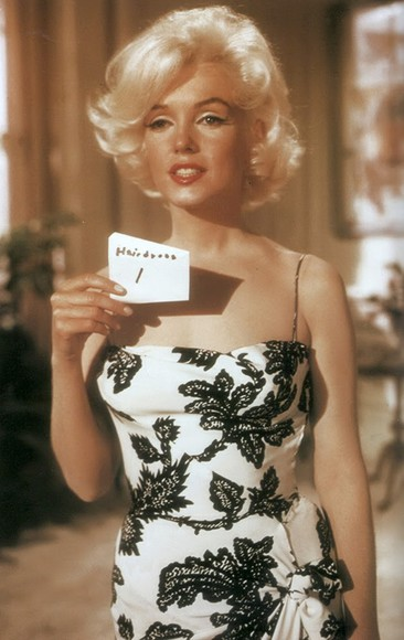 marilyn monroe black white dress