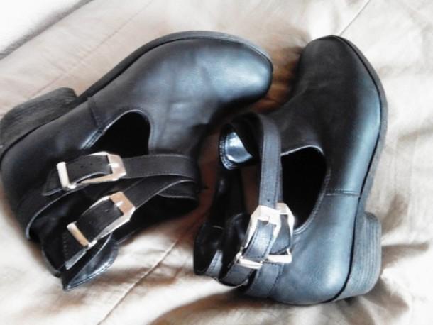 shoes black black shoes grunge shoes nu goth boots bottines grunge karen aguilera