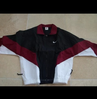 jacket burgandy jacket black white coat nike burgundy jacket tumblr grunge vintage style stripes nike jacket burgundy waterproof windbreaker red nike windbreaker clothes maroon/burgundy 90s jacket vintage nike windbreaker colorblock thin fabric bordeau coat shirt multicolor old school red jacket sports jacket black and white nike windbreaker vintage