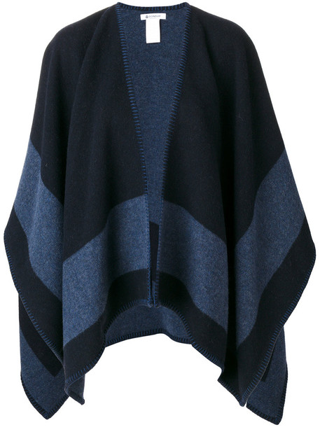 DONDUP cape women blue wool top