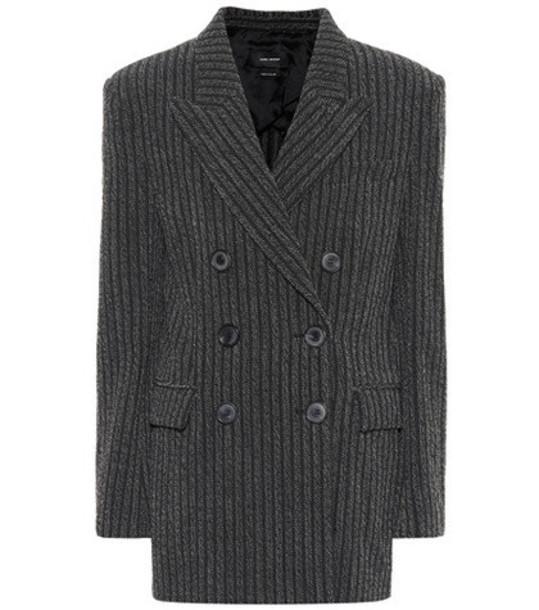 Isabel Marant Wool-blend blazer in grey