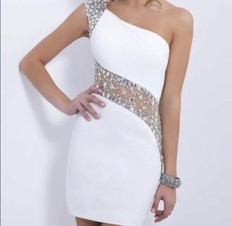 dress homecoming dress white dress sparkle dress