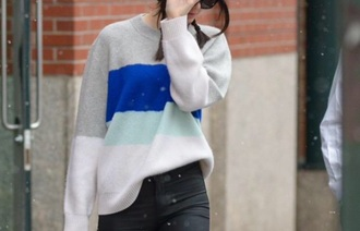 sweater kendall and kylie jenner kendall jenner celebrity streetstyle