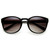 Womens Retro Colorful Pastel P3 Horned Rim Keyhole Wayfarer Sunglasses