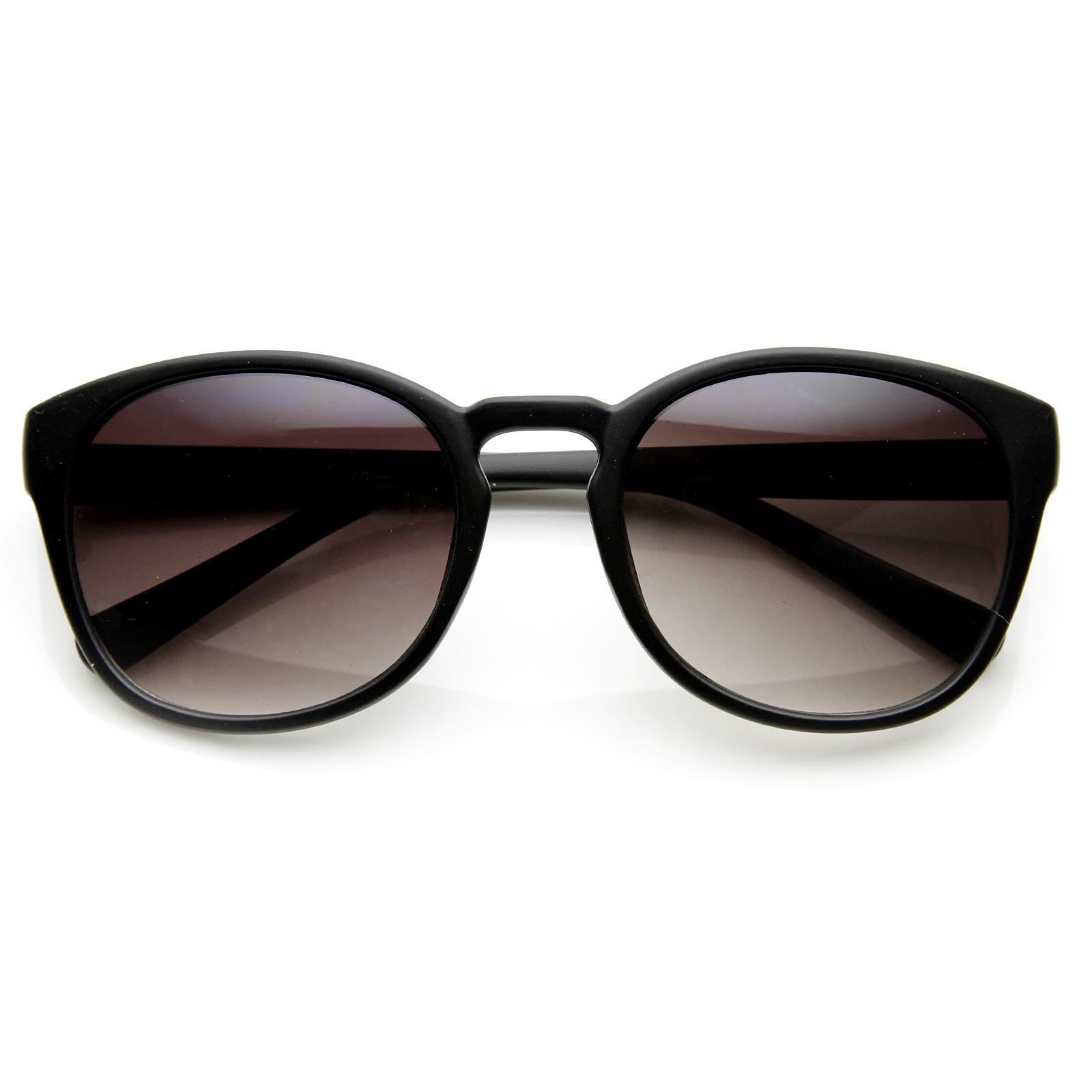 Womens Retro Colorful Pastel P3 Horned Rim Keyhole Wayfarer Sunglasses