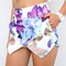 Floral purple multi peony double pointy wrap skort shorts 6 8 10 12 | ebay