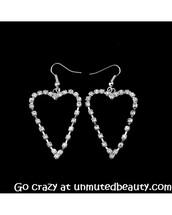 jewels,earrings,fashion,cute,style,pretty,prom,shiny,heart earrings
