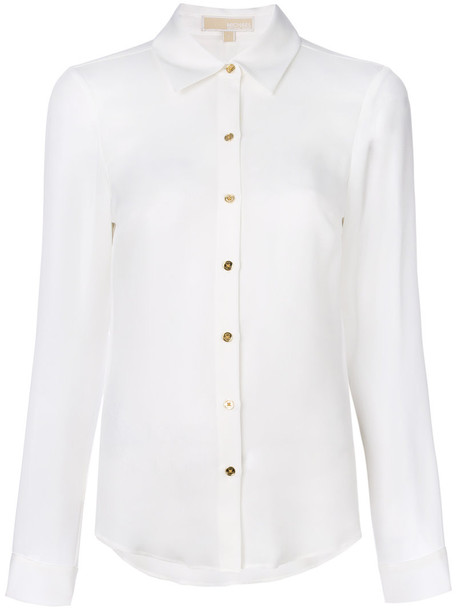MICHAEL Michael Kors shirt women white silk top