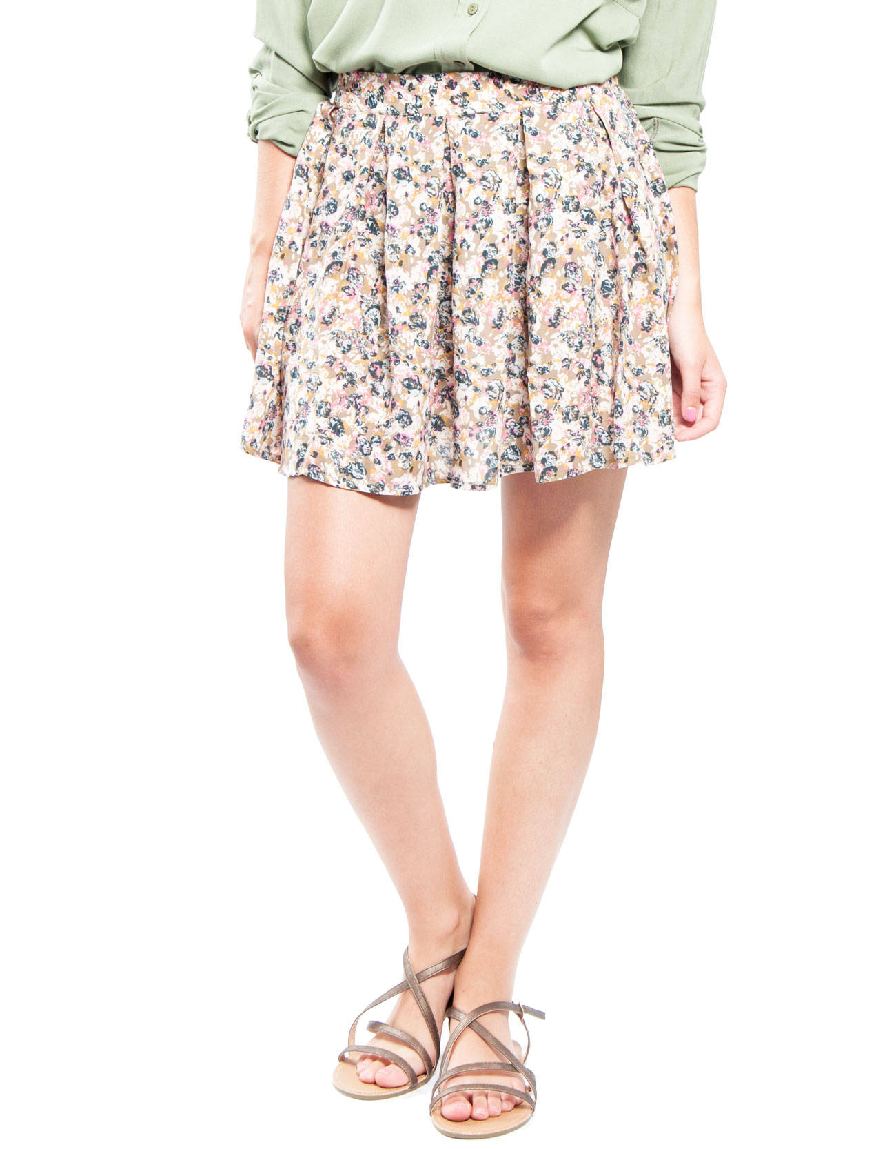 Military print skirt : CLOTHES Skirts