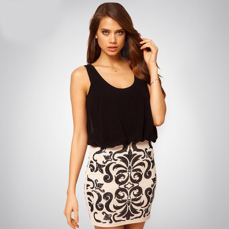 Bqueen fashion sequins slim waist
