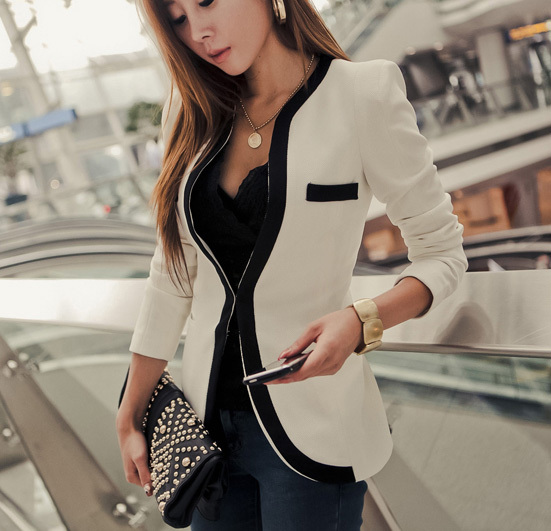 Fashion Blazer Women 2014 all match Slim Women's Suit Jacket Shoulder Pads Women's Blazer-inBlazer & Suits from Apparel & Accessories on Aliexpress.com