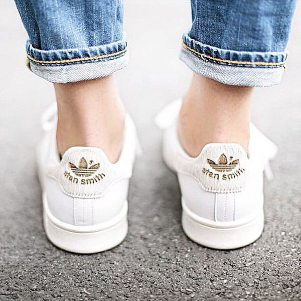 Adidas Stan Smith Gold Croc