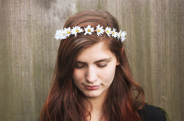 hair accessory daisy crown flower crown hippie hippie headband hippie hippie summer outfits summer accessories flower crown flowers flower hair