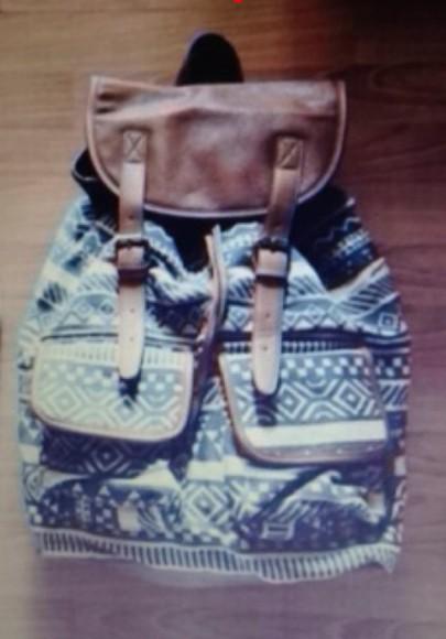 black white fashion bag backpack aztec aztec bag brown aztecprint