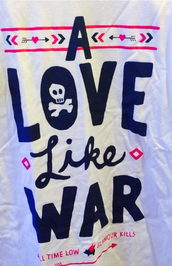 t-shirt t-shirt a love like war