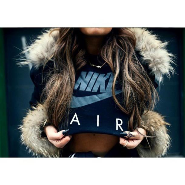 tank top top tshirt. nike sweater nike high tops black crop top grey t-shirt too cute summer top summer outfits jacket shirt nike black nike woman nike air sporty hair