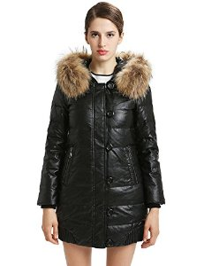 Amazon.com: Yaloo Women Hooded Fur Collar Thicken Quilt Down Jacket Long Parka Coat: Sports & Outdoors