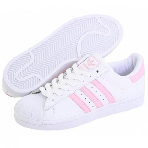 BOOGZEL | Shell Toe Pink Striped Sneakers