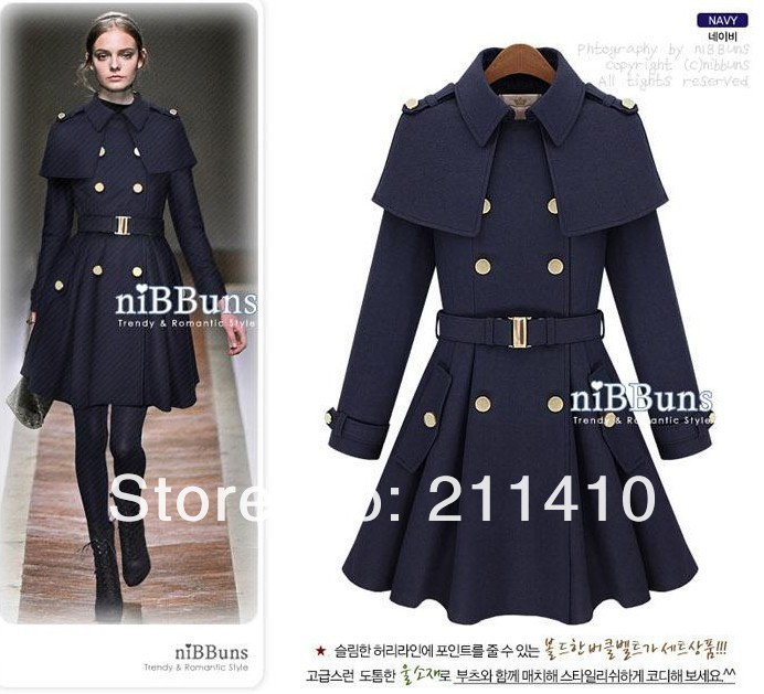 2013 Winter Fashion Woman Classic Double Breasted Slim Long Woolen Coats Trench Elegance Female Coat  J 0012-in Wool & Blends from Apparel & Accessories on Aliexpress.com