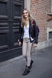 pants,cara delevingne,jacket,shoes