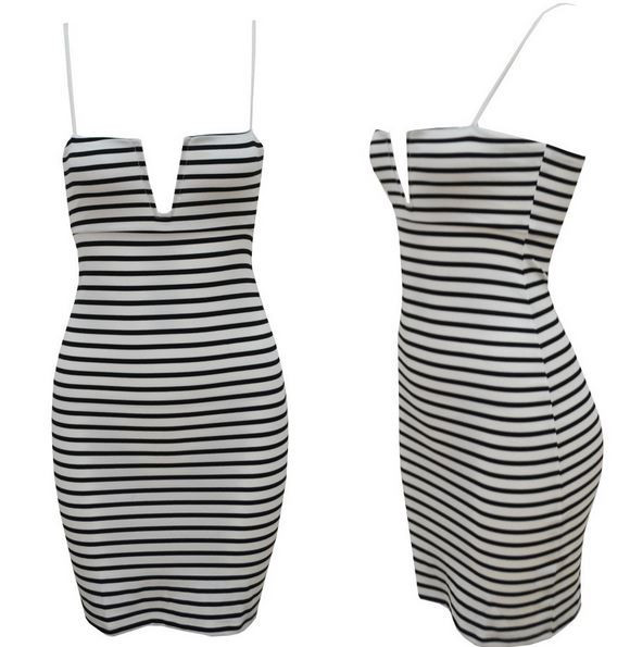 Bobbie Striped Cocktail Dress