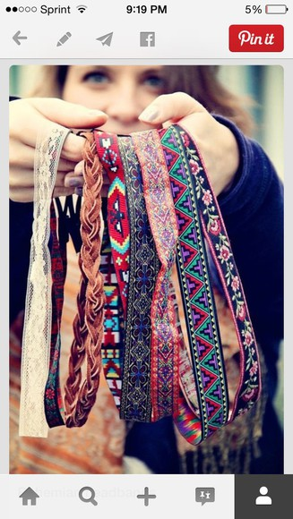 native american hair accessories headband aztec