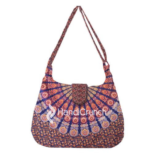 Stunning designer perfect your outfit shoulder mandala style printed handbag