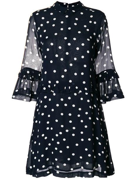 Ganni dress print dress women print blue