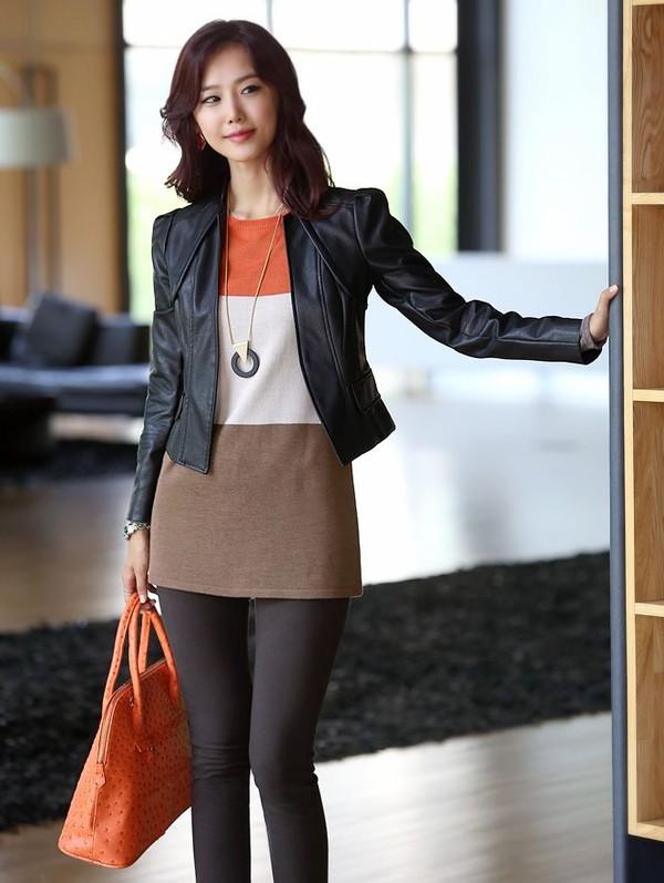 jacket fashion leather