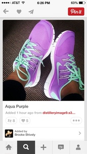 shoes,nike running shoes,nike free run,nike sneakers,nike air,purple shoes,tiffany blue,purple and tiffany,purple