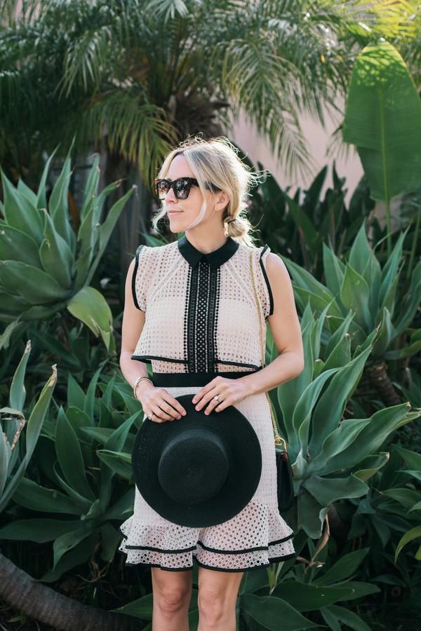 damsel in dior blogger dress shoes hat bag