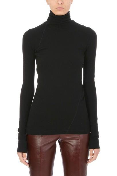 Helmut Lang turtleneck black sweater