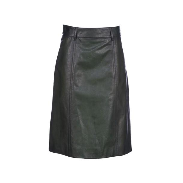 Prada skirt leather skirt leather green