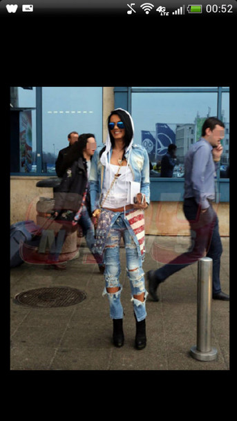 jeans pants denim blue ripped jeans ripped skinny jeans light blue light blue skinny jeans red white stars navy denim overalls overalls jumpsuit romper american flag american flag cute girly chic fashion style instagram instagram tumblr fashion tumblr summer outfits summer top top shirt blouse t-shirt crop tops jacket denim jacket sunglasses purse shoes high heels black jewelry jewls cool girl style clothes cute outfits summer outfits sexy rap music music video flygirl celebrity style skinny pants brunette