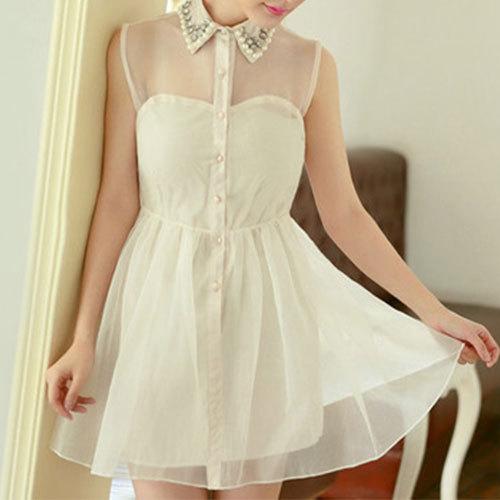 shego shopping mall — [grzxy6601157]Sexy Semi-sheer Rhinestone Bowknot Bubble Party Dress