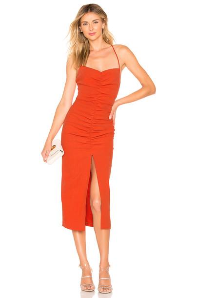 BEC&BRIDGE Spicy Lady Midi Dress in orange