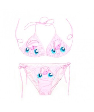swimwear bikini pokemon pink summer beach kawaii trendy fashion jigglypuff it girl shop