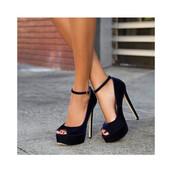 shoes,navy,suede,heels,high heels,black,open toes