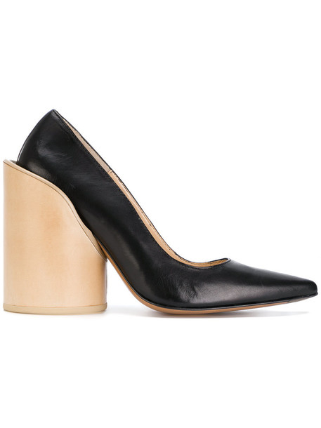Jacquemus heel women pumps leather black shoes