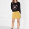 & other stories | button-down mini skirt | mustard