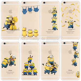 phone cover banana print minions yellow iphone cover friends